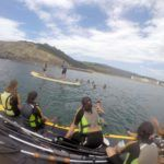 En las tablas de Big SUP en el Multiaventura & English Camp